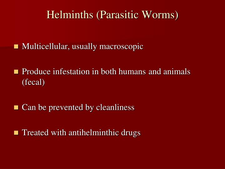 Helminths (Parasitic Worms)