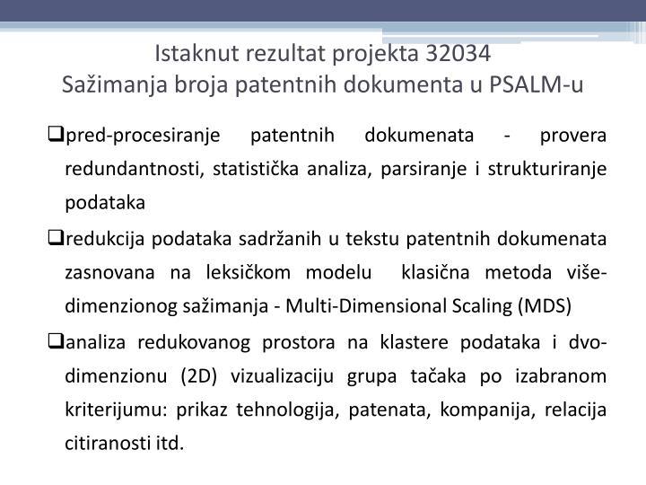 pred-procesiranje patentnih dokumenata - provera redundantnosti, statistička analiza, parsiranje i strukturiranje podataka
