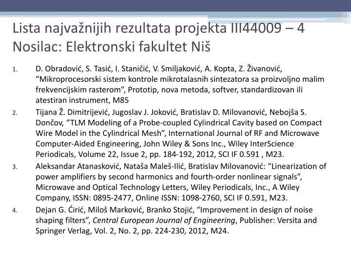 D. Obradović, S. Tasić, I. Staničić, V.