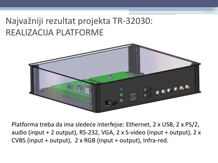 Najvažniji rezultat projekta TR-32030: