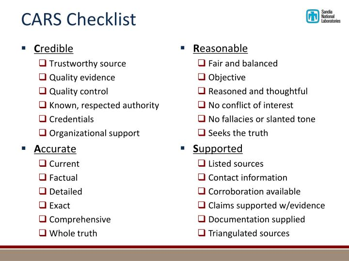 CARS Checklist