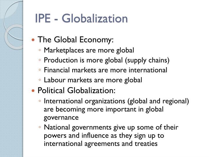 IPE - Globalization