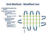 grid method modified line