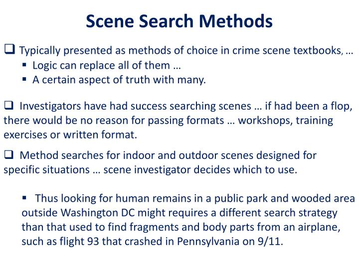 Scene Search Methods