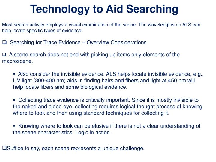 Technology to Aid Searching