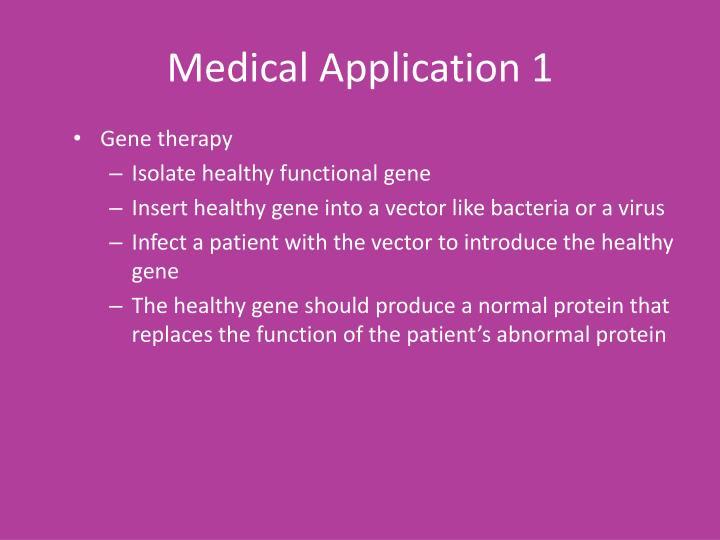 Medical Application 1