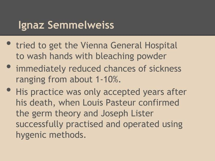 Ignaz Semmelweiss