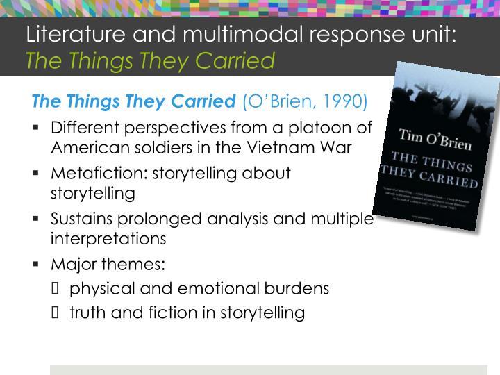 Literature and multimodal response unit: