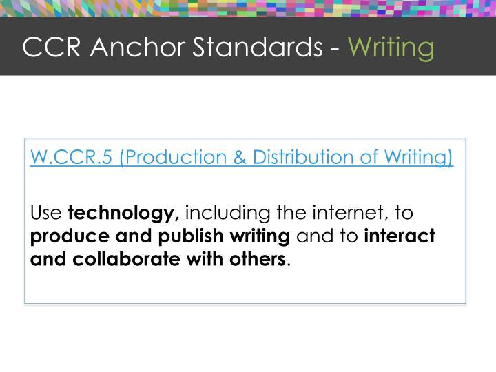 CCR Anchor Standards -