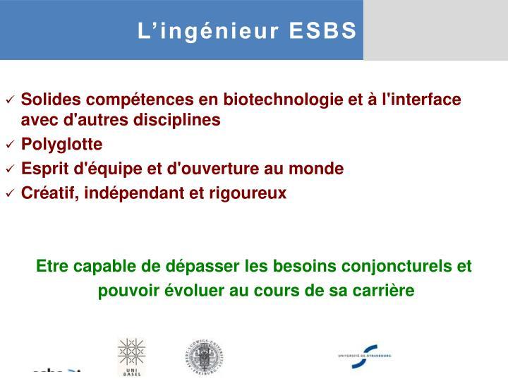 L'ingénieur ESBS