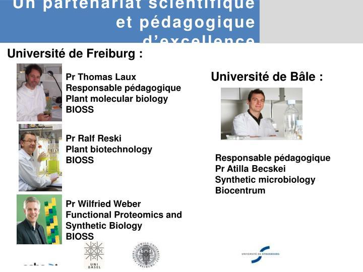 Un partenariat scientifique et pédagogique d'excellence
