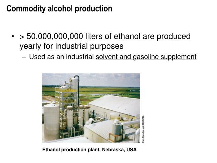 Commodity alcohol production