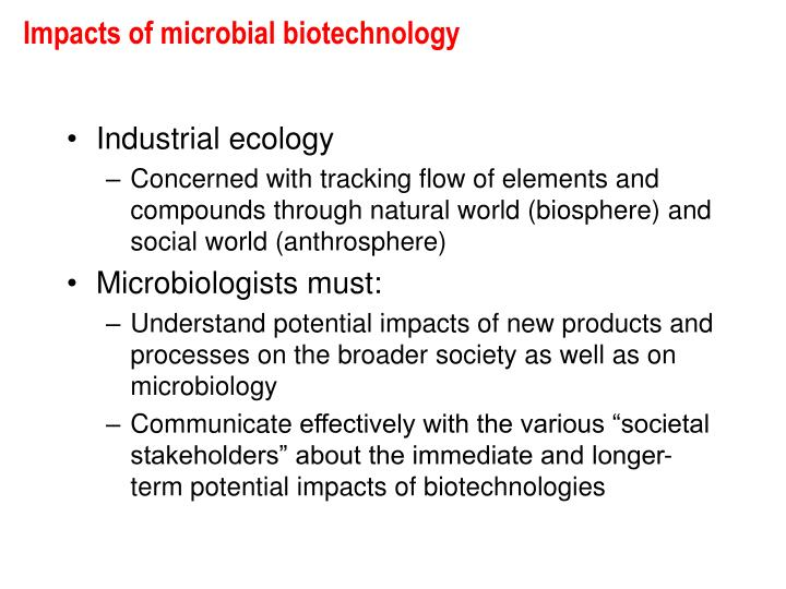 Impacts of microbial biotechnology