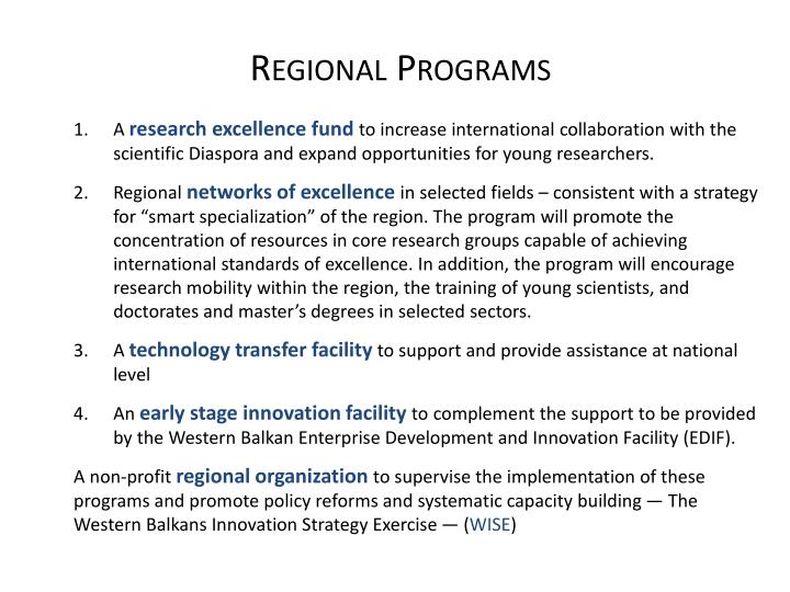 Regional Programs