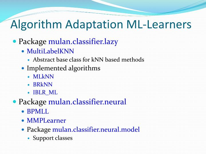 Algorithm Adaptation