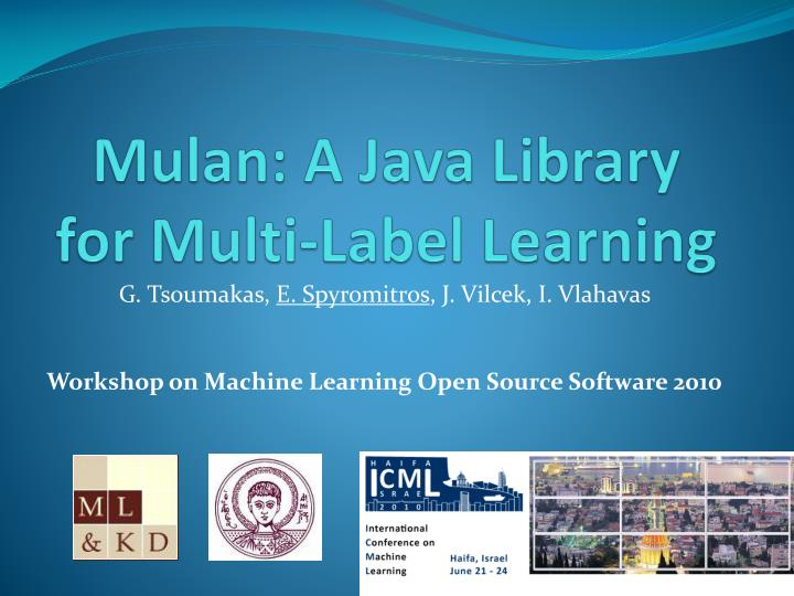 Mulan a java library for multi label learning