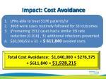 impact cost avoidance