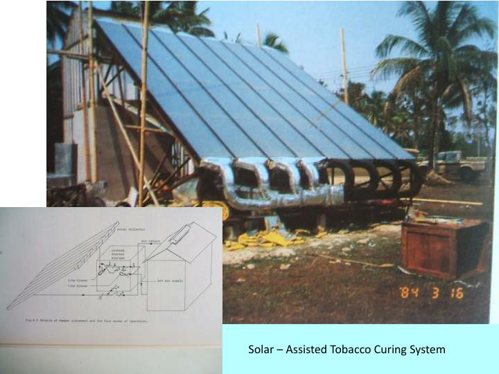 Solar – Assisted Tobacco Curing System