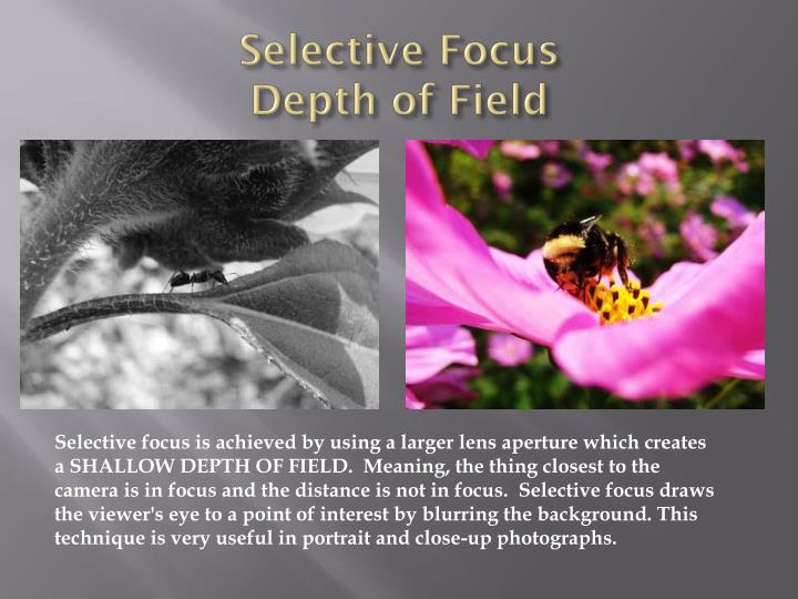Selective Focus