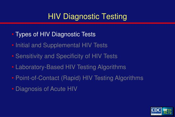 Hiv diagnostic testing1