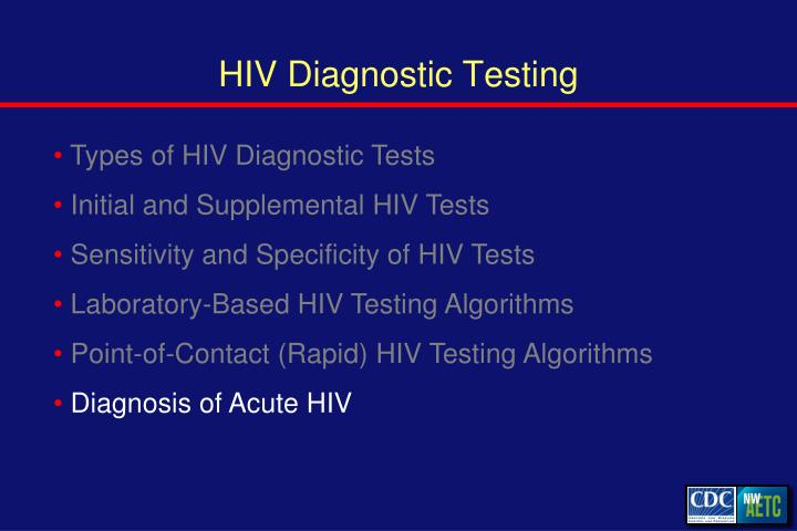 HIV Diagnostic Testing