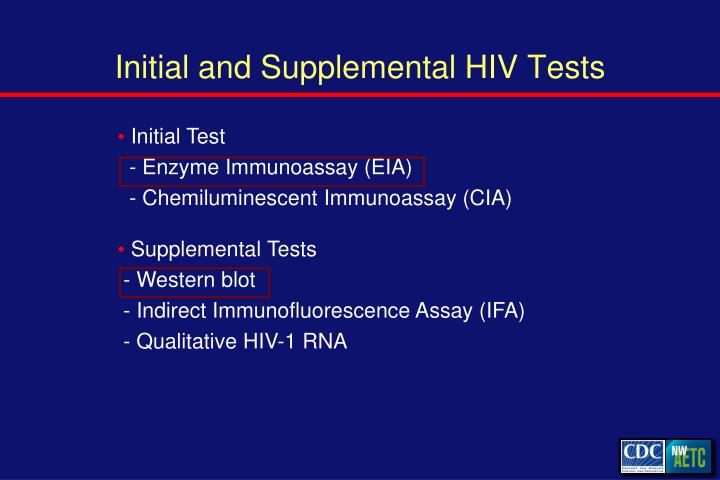 Initial and Supplemental HIV Tests