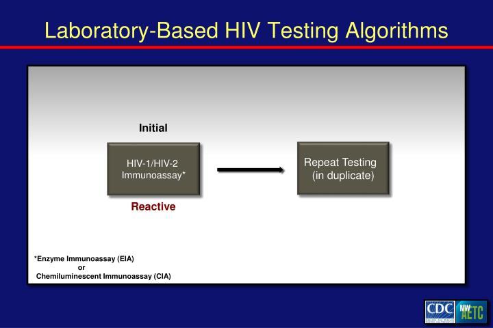 Laboratory-Based HIV Testing Algorithms