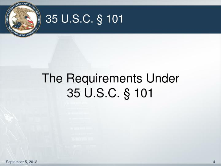 The Requirements Under