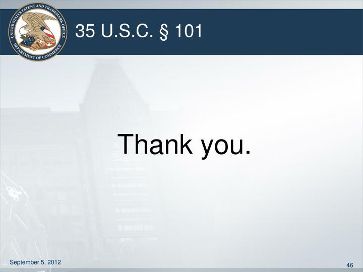 35 U.S.C. § 101