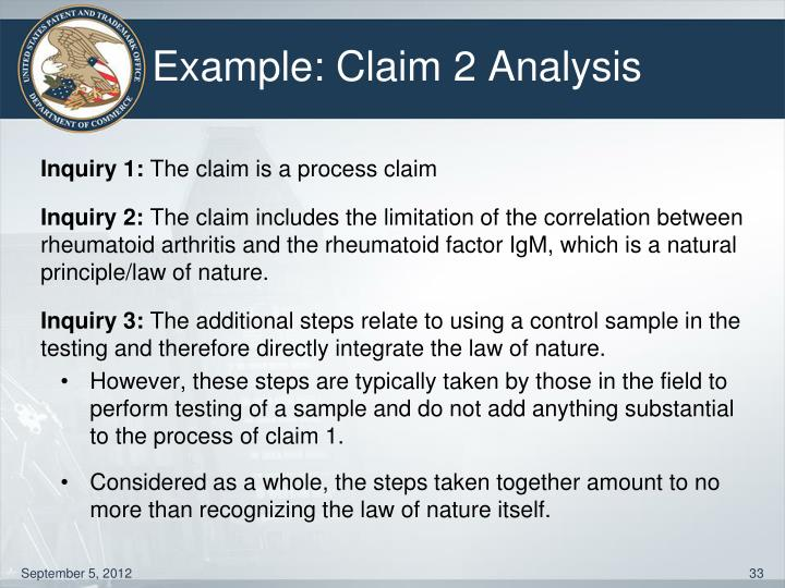 Example: Claim 2 Analysis