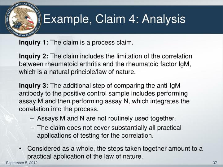 Example, Claim 4: Analysis