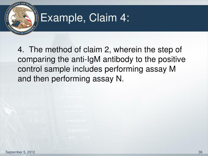 Example, Claim 4: