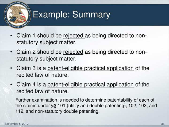 Example: Summary