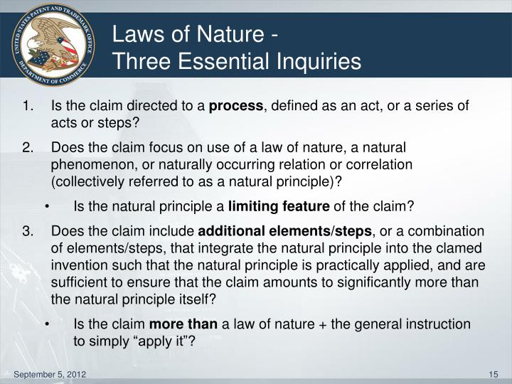 Laws of Nature -