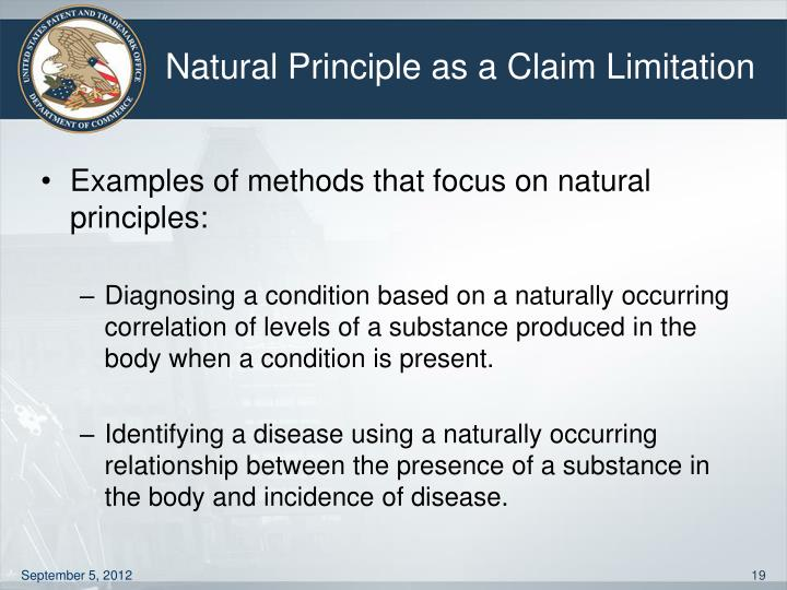 Natural Principle as a Claim Limitation