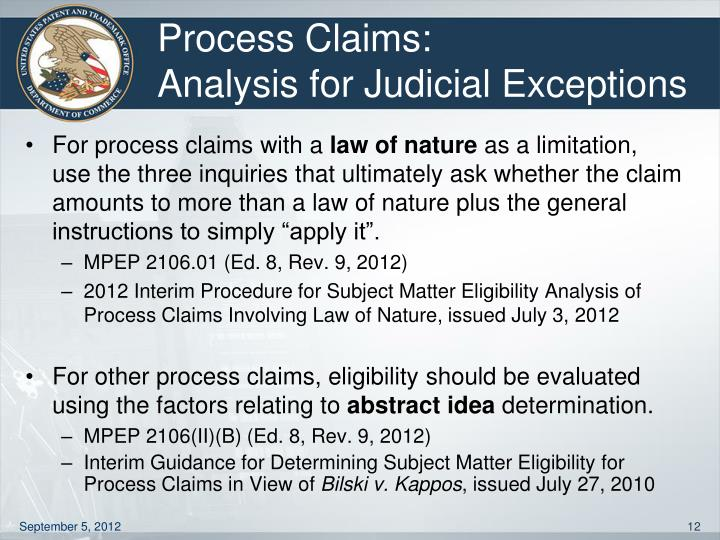 Process Claims: