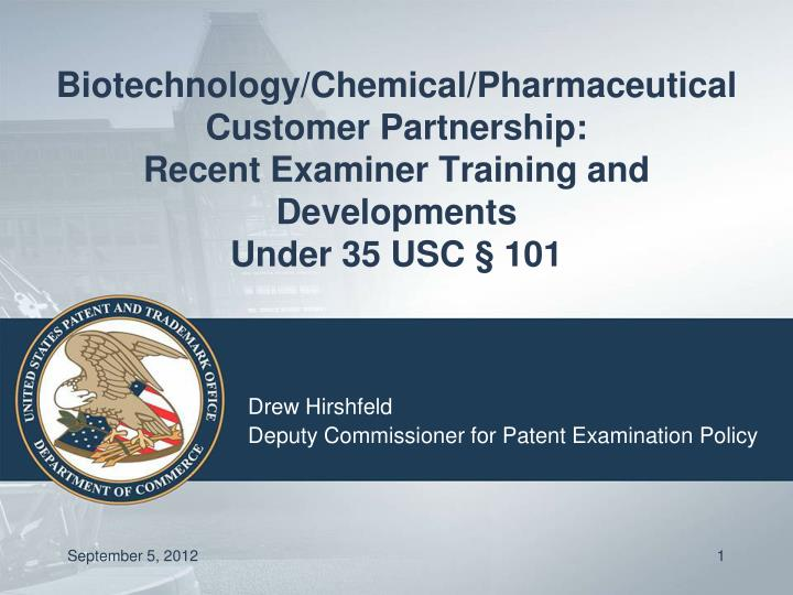 Biotechnology/Chemical/Pharmaceutical Customer Partnership: