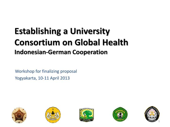 Establishing a university consortium on global health indonesian german cooperation