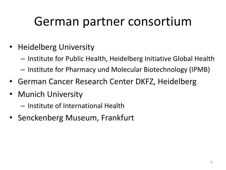 German partner consortium
