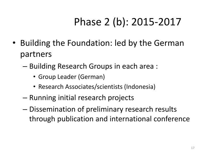 Phase 2 (b): 2015-2017