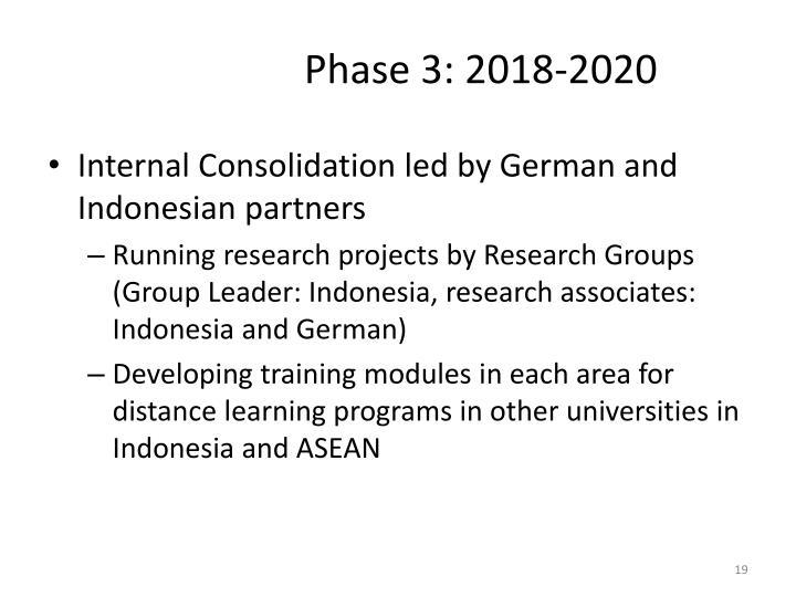 Phase 3: 2018-2020