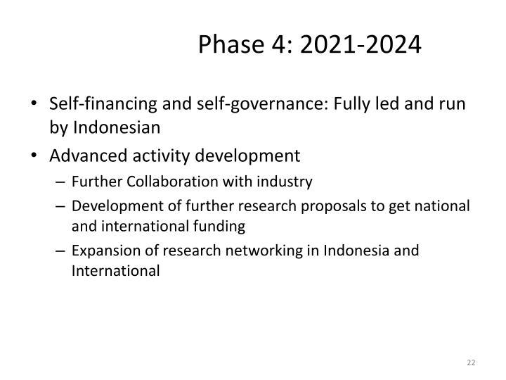 Phase 4: 2021-2024