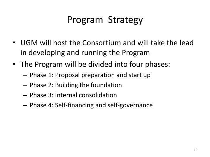 Program  Strategy