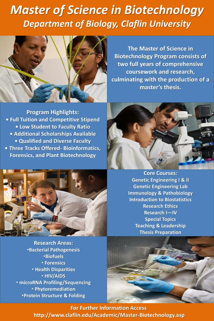 Master of Science in Biotechnology