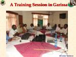 a training session in garissa