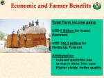 economic and farmer benefits