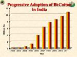 progressive adoption of bt cotton in india