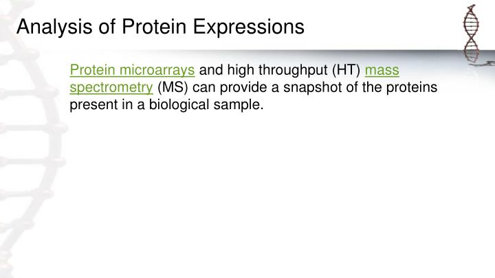 Analysis of Protein Expressions