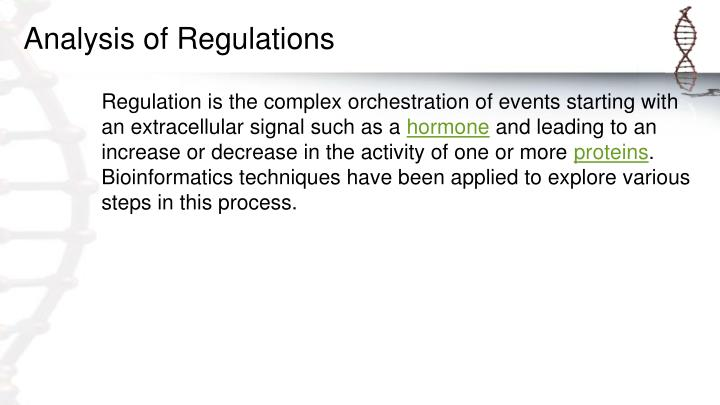 Analysis of Regulations