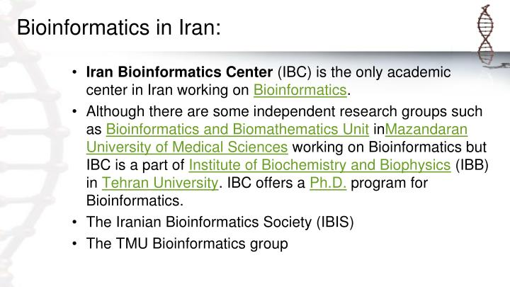Bioinformatics in Iran: